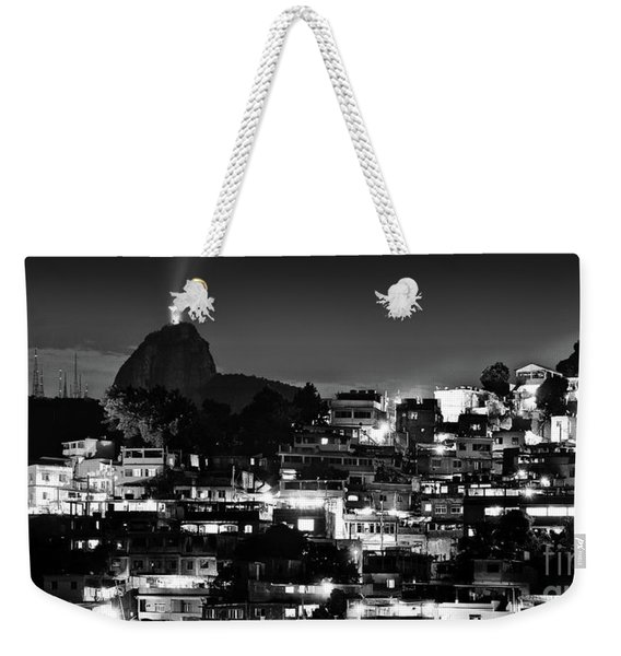 Rio De Janeiro - Christ The Redeemer On Corcovado, Mountains And Slums Weekender Tote Bag