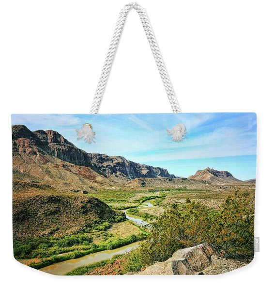Rio Grande River Bright Summer Day Weekender Tote Bag