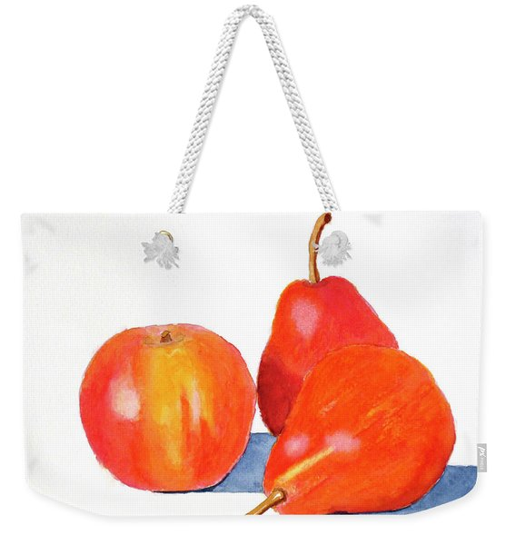 Weekender Tote Bag featuring the painting Ripe And Ready To Eat by Rich Stedman