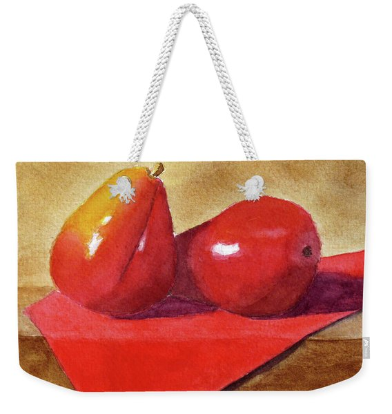 Weekender Tote Bag featuring the painting Ripe For The Eating by Rich Stedman