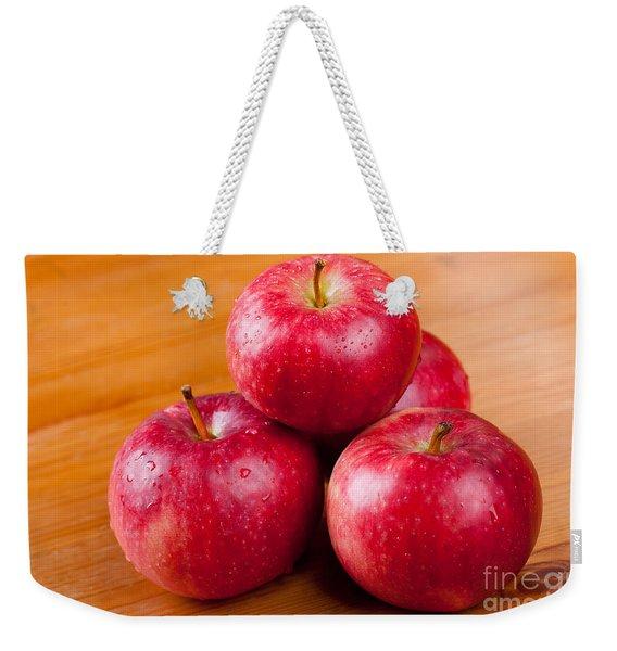 Ripe Red Apples Dewed In Pile  Weekender Tote Bag