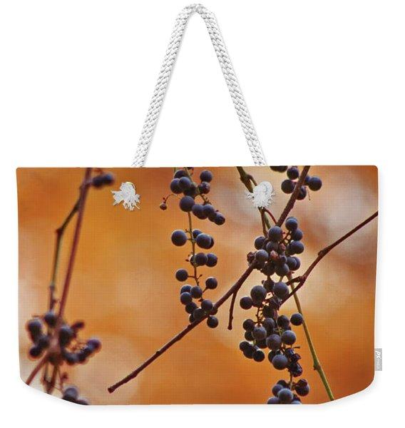 Ripe Wild Grapes  Weekender Tote Bag