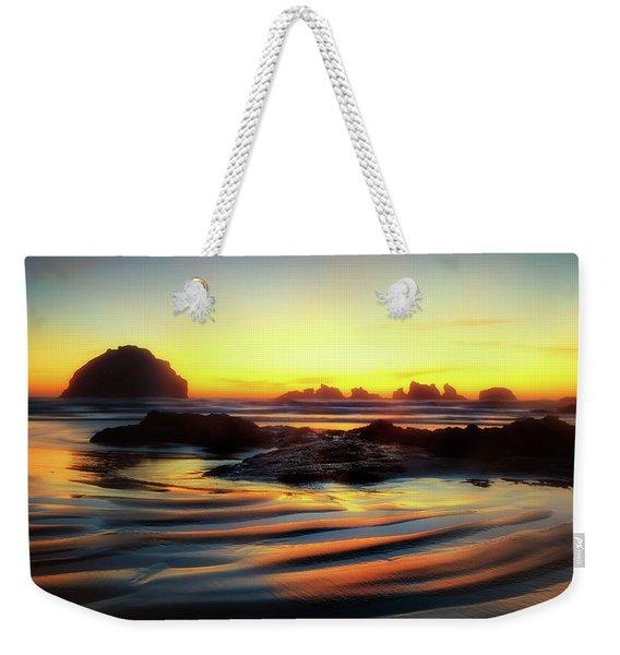Ripple Effect Beach Image Art Weekender Tote Bag