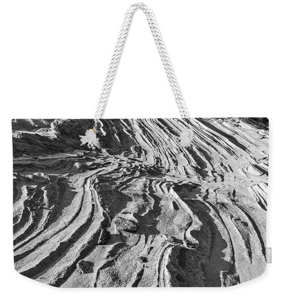 Rippled Sandstone At Waterhole Canyon Weekender Tote Bag