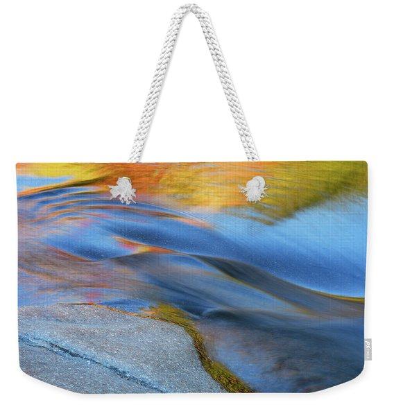 Ripples Flow Swift River Nh Weekender Tote Bag