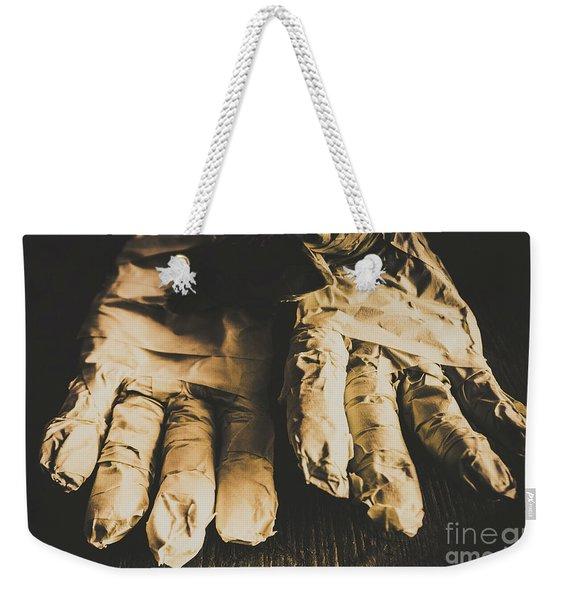 Rising Mummy Hands In Bandage Weekender Tote Bag