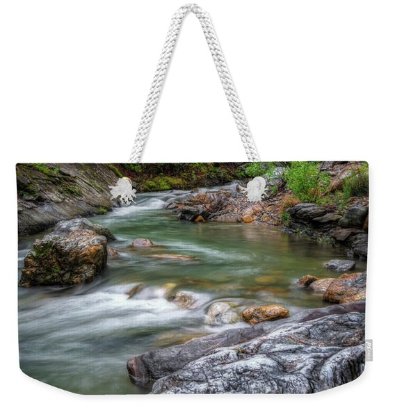 River Beauty Weekender Tote Bag