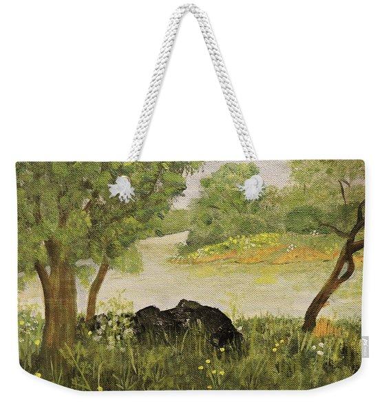 River Bend In Spring Weekender Tote Bag