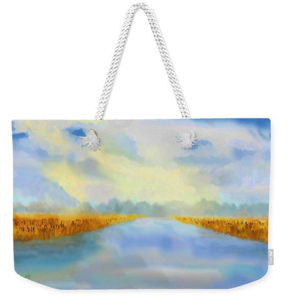 River Blue Weekender Tote Bag