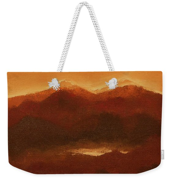 River Mountain View Weekender Tote Bag