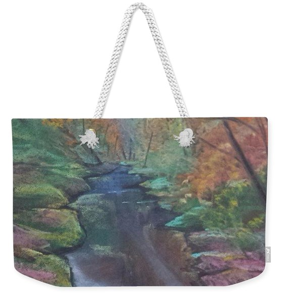 River In The Fall Weekender Tote Bag