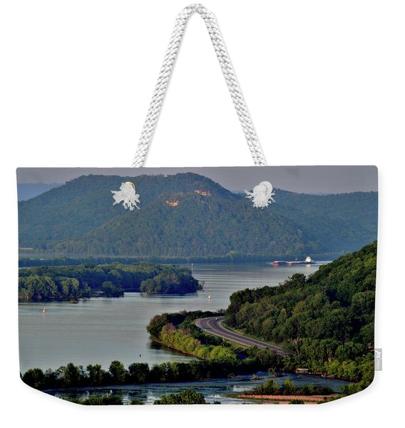 River Navigation Weekender Tote Bag