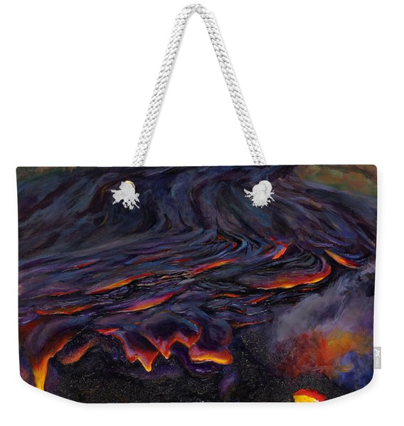River Of Fire - Kilauea Volcano Eruption Lava Flow Hawaii Contemporary Landscape Decor Weekender Tote Bag