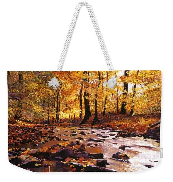River Of Gold Weekender Tote Bag