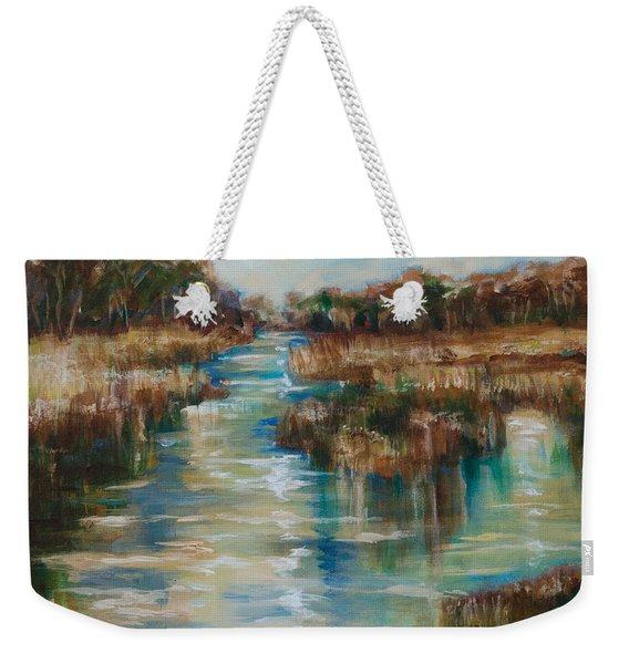 River Reflection Weekender Tote Bag