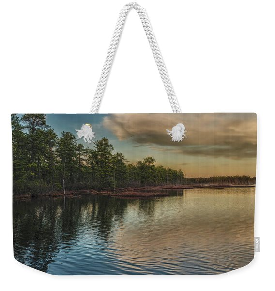 River Reflections On The Mullica River Weekender Tote Bag