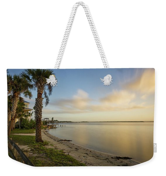 River Road  Sunrise  Weekender Tote Bag
