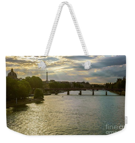 River Seine At Dusk Weekender Tote Bag