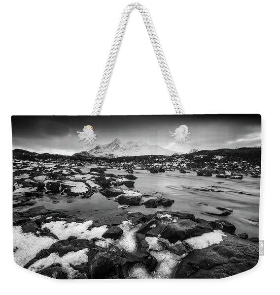 River Sligachan And Black Cuillin, Isle Of Skye Weekender Tote Bag
