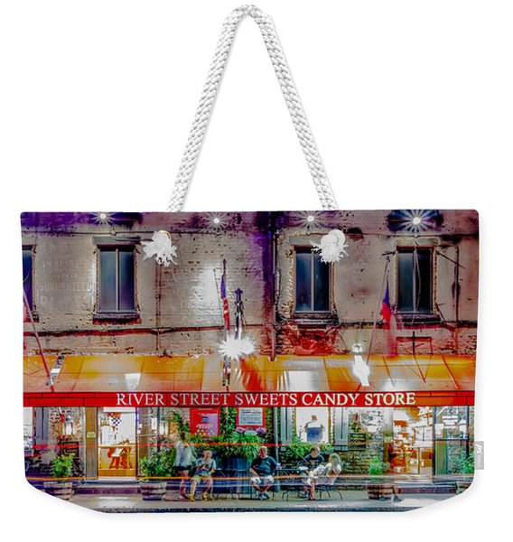 River Street Sweets Candy Store Savannah Georgia   Weekender Tote Bag