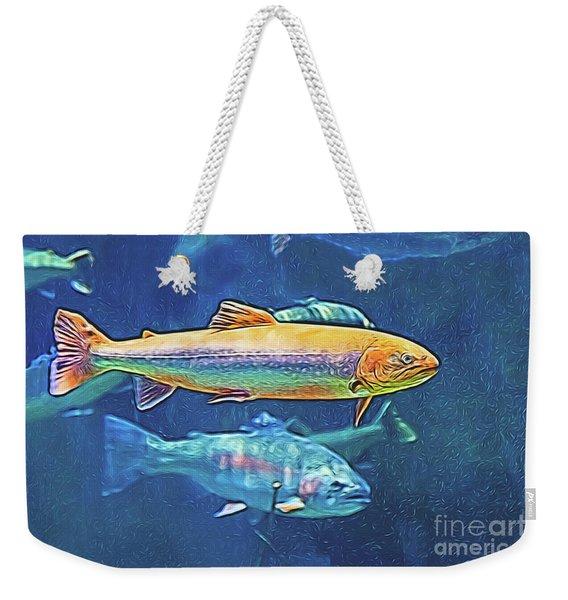 River Trout Weekender Tote Bag