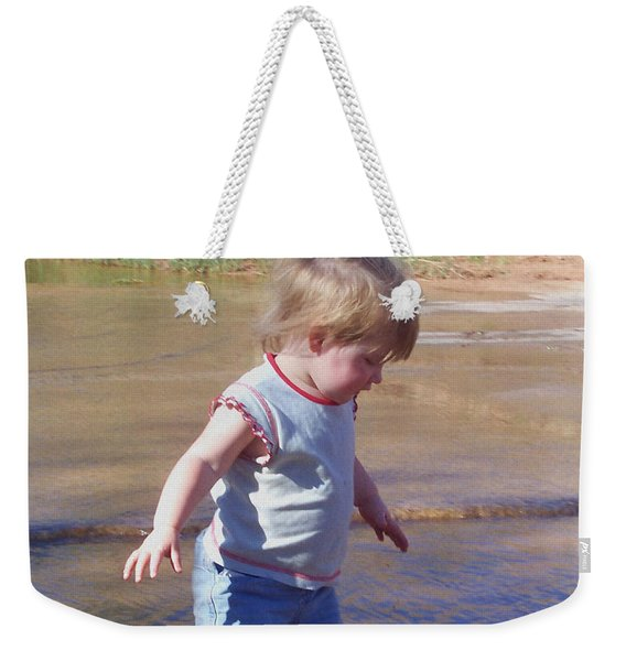 Weekender Tote Bag featuring the photograph River Wading by Deleas Kilgore