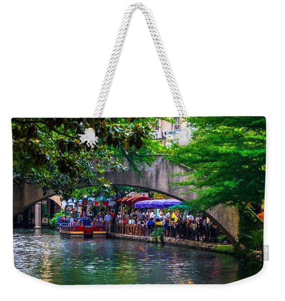River Walk Dining Weekender Tote Bag