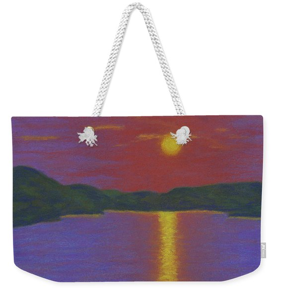 Riverboat Sunset Weekender Tote Bag