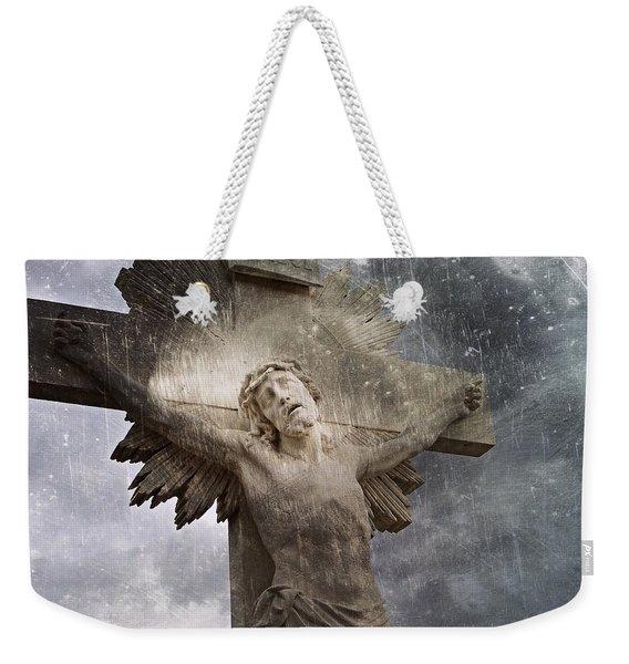 Riverside Cemetery Cross Weekender Tote Bag