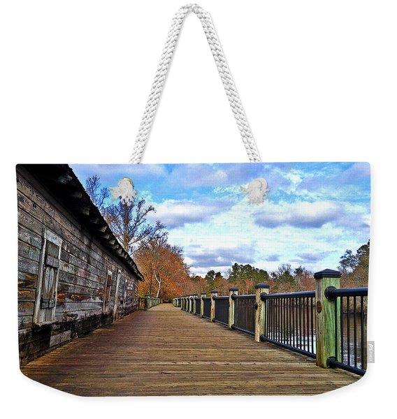 Riverwalk Warehouse Walkway Weekender Tote Bag