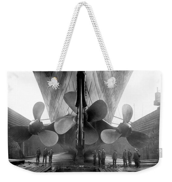 Rms Titanic Propellers Weekender Tote Bag