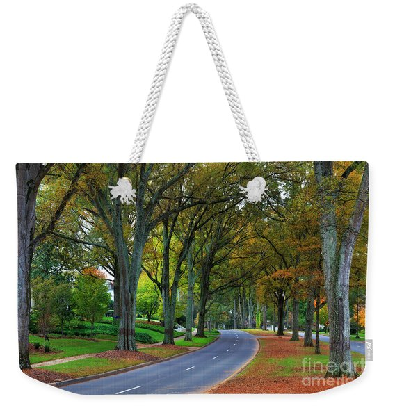 Road In Charlotte Weekender Tote Bag