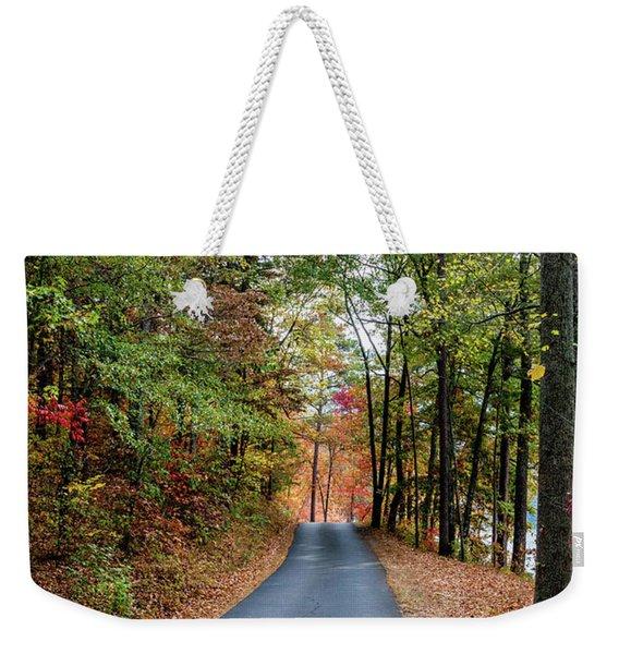 Road In The Woods Weekender Tote Bag