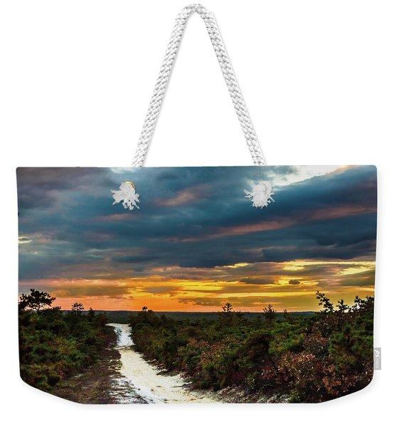 Road Into The Pinelands Weekender Tote Bag