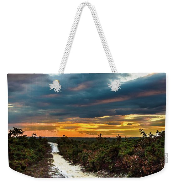 Road Into The Pinelands Weekender Tote Bag