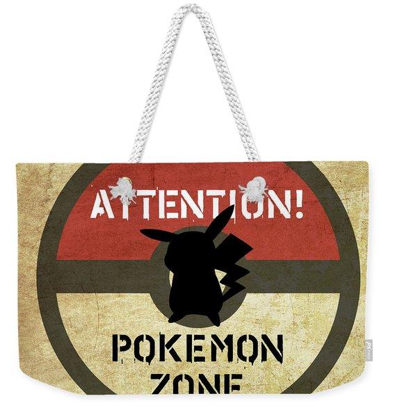Road Signage Pokemon Zone Weekender Tote Bag