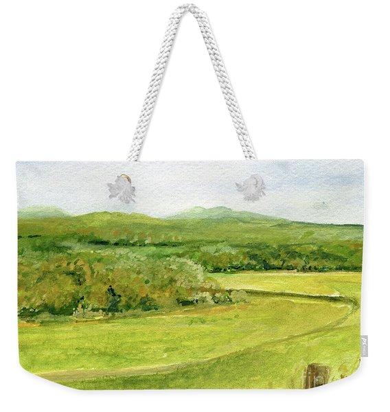 Road Through Vermont Field Weekender Tote Bag
