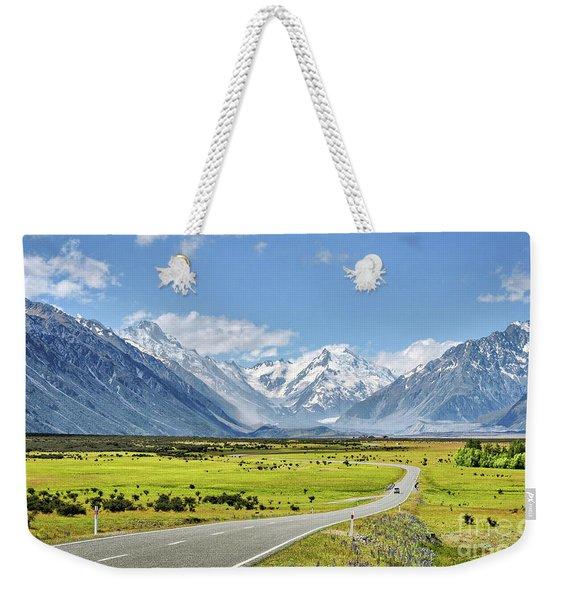 Road To Aoraki Weekender Tote Bag