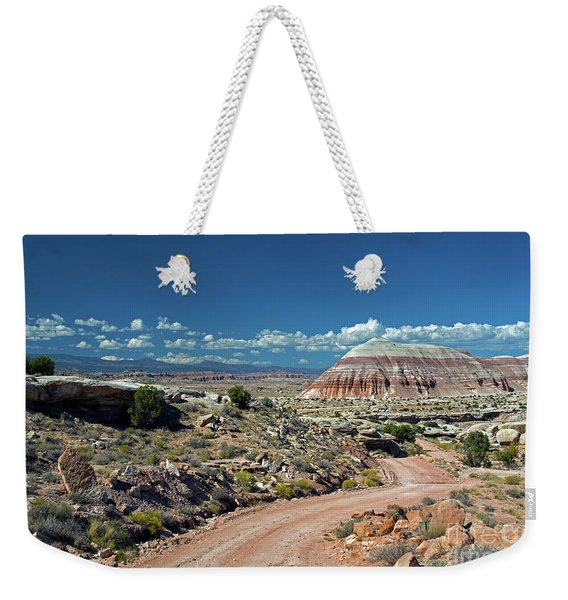 Road To Cathedral Valley Weekender Tote Bag