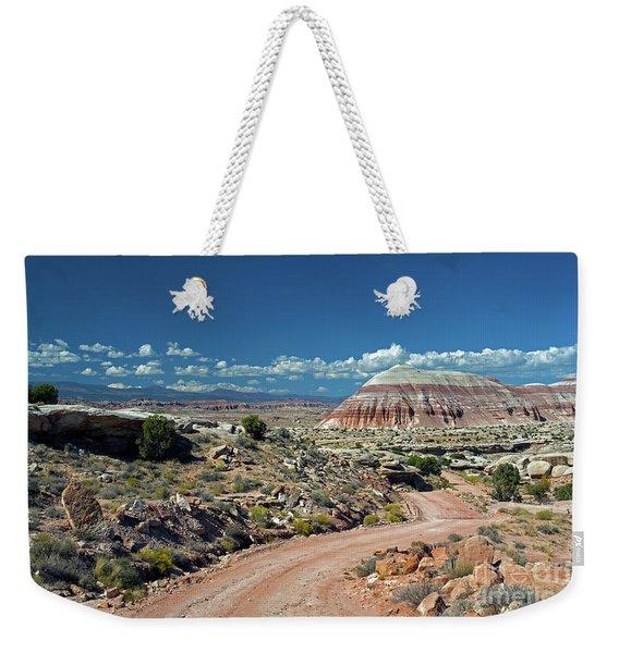 Road To Cathedral Valley Weekender Tote Bag