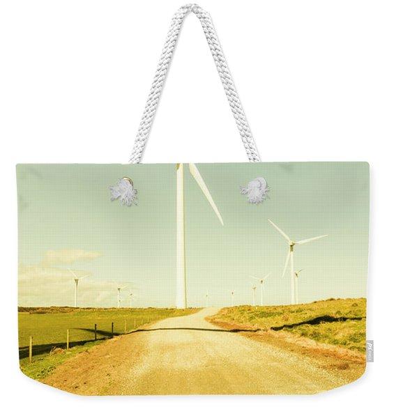 Road To Green Farming Weekender Tote Bag