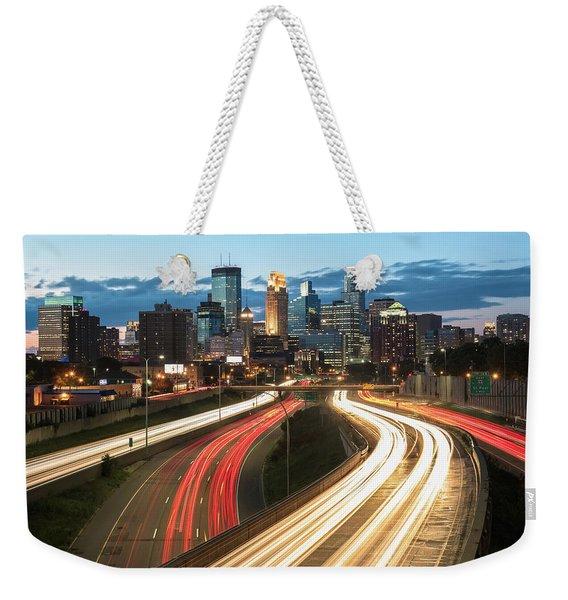 Road To Minneapolis Weekender Tote Bag