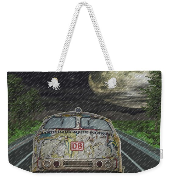 Road Trip In The Rain Weekender Tote Bag