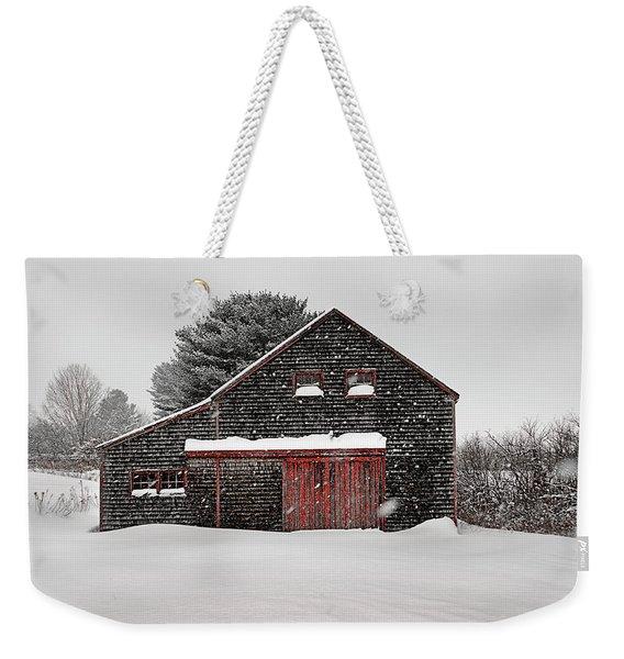 Roadside Barn In The Storm Weekender Tote Bag