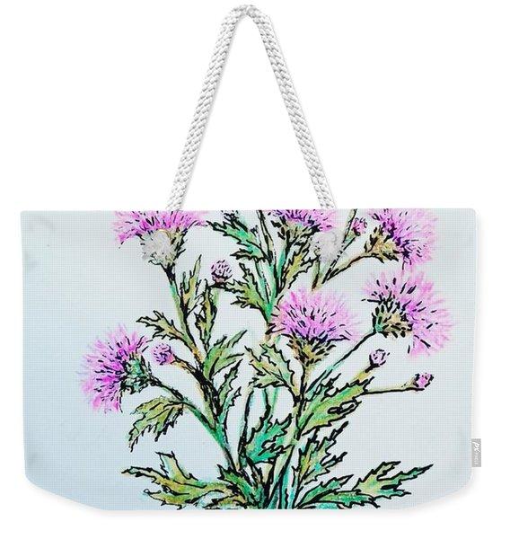 Roadside Thistles Weekender Tote Bag