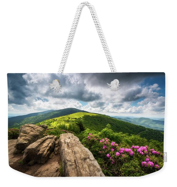 Roan Mountain Radiance Appalachian Trail Nc Tn Mountains Weekender Tote Bag