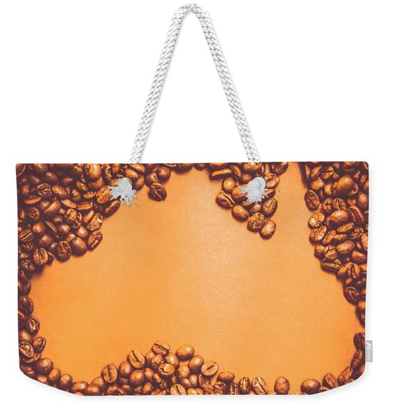 Roasted Australian Coffee Beans Background Weekender Tote Bag