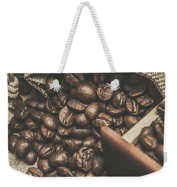 Roasted Coffee Beans In Close-up  Weekender Tote Bag