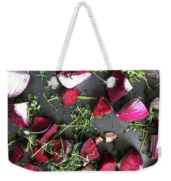 Roasting Vegetables Weekender Tote Bag