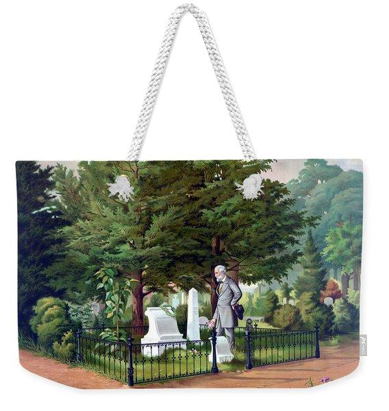 Robert E. Lee Visits Stonewall Jackson's Grave Weekender Tote Bag